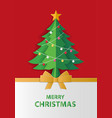 merry christmas and winter season greeting card vector image