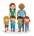 sports family characters icon vector image