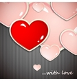 Valentines Day background with hearts holiday vector image