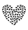 cute bird pattern isolated vector image