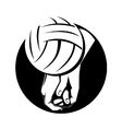 Volleyball Player Hitting Ball vector image