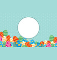 collection of frame easter theme vector image