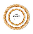 realistic rope  3d circular rope isolated vector image