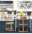 coffee shop design art vector image