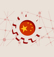 3d cog wheel with china flag vector image