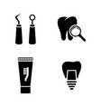 dental simple related icons vector image