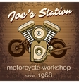 motorcycle repair shop poster vector image