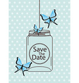butterflies card vector image