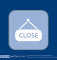 close label sign symbol icon tablet closed vector image