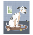 Dog with a bone in his mouth vector image