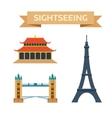 Sightseeing eiffel tower Paris London bridge vector image