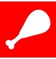 Chicken leg sign vector image