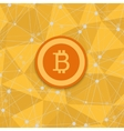 vetor modern concept of bitcoin new money vector image