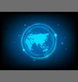 abstract global world circle digital technology vector image