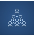 Business pyramid line icon vector image