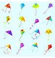 color kite set vector image