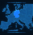europe abstract map germany vector image