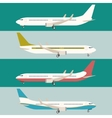 Flat set of planes vector image