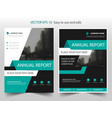 Green abstract annual report brochure design vector image