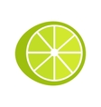 Lime In Flat Style Design vector image
