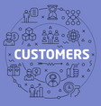 linear customers vector image