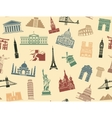 Seamless background tourist attractions vector image