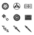 set of auto spare parts vector image
