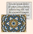 vintage leaflets with mandala pattern on light vector image