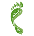 footprint leaf vector image vector image
