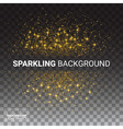 luxury transparency background with gold sparklers vector image