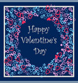 happy valentines day festive frame vector image