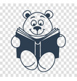 silhouette icon teddy bear with a book vector image