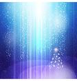 blue light christmas vector image vector image