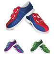 bowling shoes template vector image