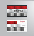 Business card template modern abstract concept vector image vector image