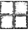 Four black frames vector image vector image