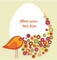vintage floral Easter design vector image
