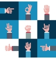 icons and symbols emoji different hands vector image
