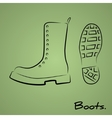 Army boots vector image