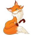 cute fox cartoon vector image
