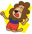 Lion Happy vector image