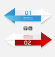 Modern Design arrow template banners vector image