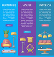 modern house furniture poster set vector image
