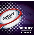 rugby tournament league ball and dots vector image