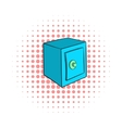 Safety deposit box icon comics style vector image
