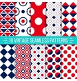 Seamless retro patterns set vector image