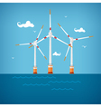 Wind Turbines in the Sea vector image
