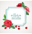 Rose Flowers Frame vector image
