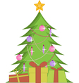 Christmas Tree With Presents vector image