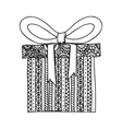 gift box and bow icon image vector image